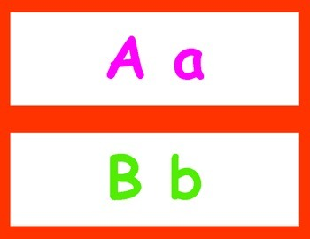 Alphabet Header for my FUN Word Wall!