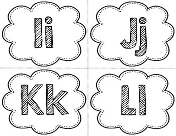 Alphabet Headers - Black and White {FREE}