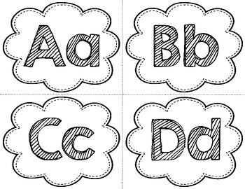 Alphabet Headers   Number Headers   Black and White