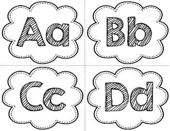 Alphabet Headers - Black and White {FREE}