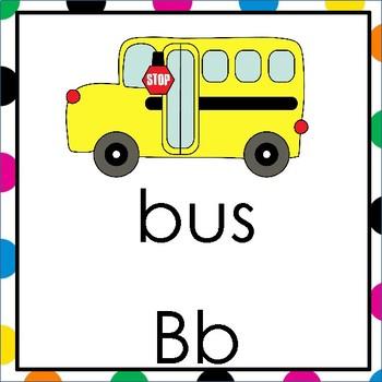 Alphabet Headers Square Set