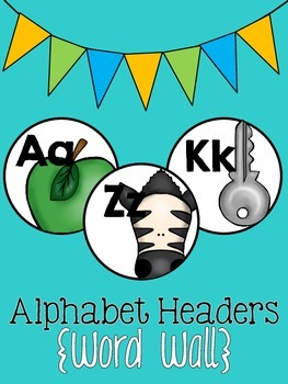 Alphabet Headers {Word Wall}