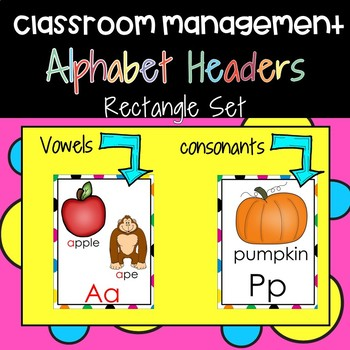 Alphabet Headers for the Early Childhood Classroom:Rectangle Set