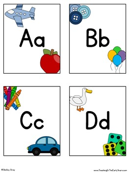 Alphabet Headers/Center Cards