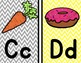 Alphabet Headers/Posters {Yellow and Gray Chevron}