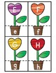Alphabet Heart Flowers Matching Literacy Center