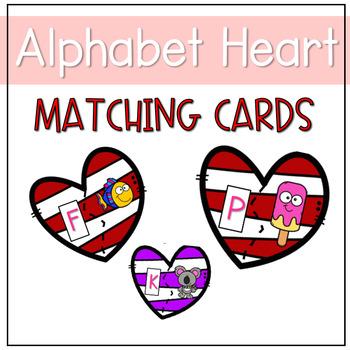 Alphabet Heart Matching Cards