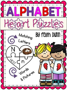 Valentine's Day Alphabet Matching