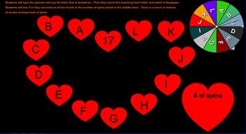 Alphabet Heart Spinner