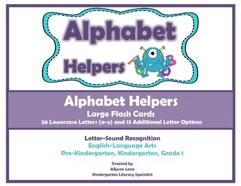 Alphabet Helpers- Large Flash Cards