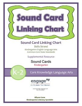 Common Core Curriculum Sound Card Linking Chart, Grades K-