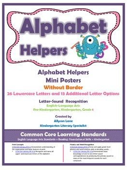 Alphabet Helpers- Mini-Posters Without Border