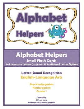Alphabet Helpers- Small Flash Cards