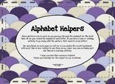 Alphabet Helpers in COLOR