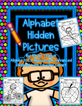Benchmark Advance Alphabet Hidden Pictures by Kinder League