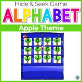 Alphabet Hide & Seek Pocket Chart Cards   Apple Tree Theme