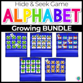 Alphabet Hide & Seek Pocket Chart Cards |Bundle