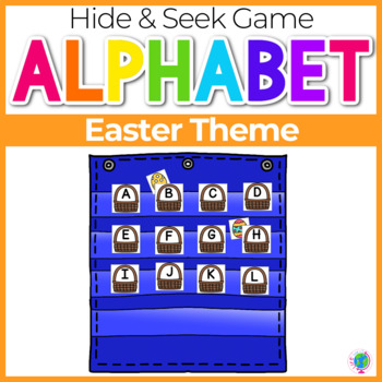Alphabet Hide & Seek Pocket Chart Cards | Easter Theme