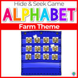 Alphabet Hide & Seek Pocket Chart Cards | Farm Theme