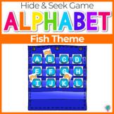 Alphabet Hide & Seek Pocket Chart Cards | Fish & Fishbowl Theme