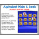 Alphabet Hide & Seek Pocket Chart Cards | Peanut Butter and Jelly Theme
