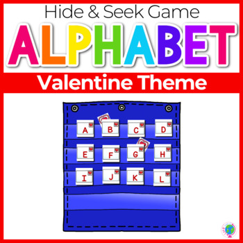 Alphabet Hide & Seek Pocket Chart Cards | Valentine Theme