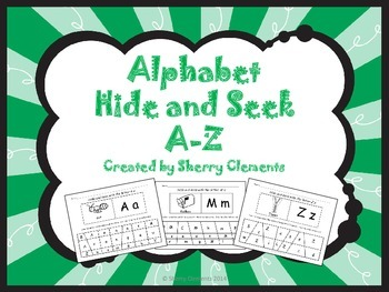 Alphabet Hide and Seek A-Z