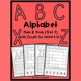 Alphabet Hide and Seek A-Z (set 2) with Counting the Letters 0-5