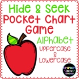 Alphabet Hide and Seek Pocket Chart Game - Apples