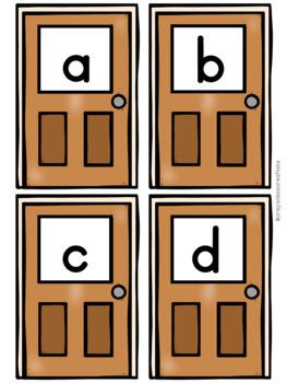 Alphabet Hide and Seek Pocket Chart Game - Halloween