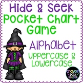 Alphabet Hide and Seek Pocket Chart Game - Halloween
