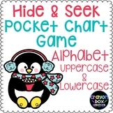 Alphabet Hide and Seek Pocket Chart Game - Penguins