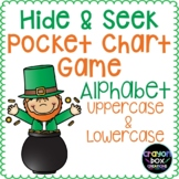 Alphabet Hide and Seek Pocket Chart Game -Uppercase & Lowe