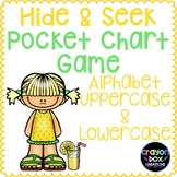 Alphabet Hide and Seek Pocket Chart Game - Uppercase & Low