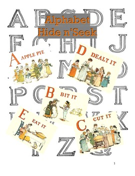 Alphabet Hide n Seek Match and Color