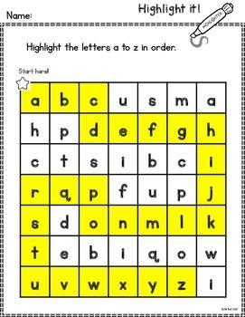 Alphabet: Highlight it!