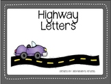 Alphabet Highways- Letter Activity (English and Spanish letters)