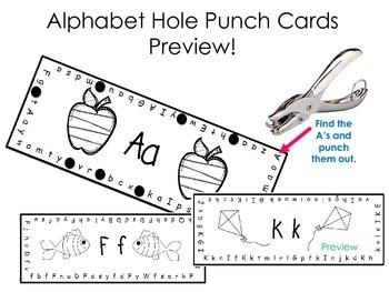 Alphabet Hole Punch Cards