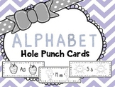 Alphabet Hole Punch Cards