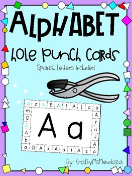Letter Hole Puncher.Alphabet Hole Punch Cards