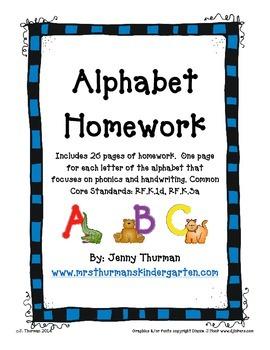 Alphabet Homework