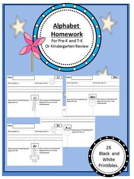 Alphabet Homework Packet