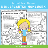 "Alphabet 'Letter Home"" Homework for Early Learners"