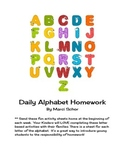 Alphabet Homework for Young Learners