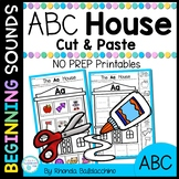 Alphabet House Cut and Paste Activities