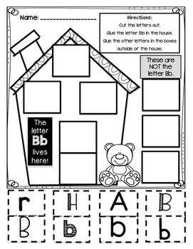 Alphabet Houses Letter Sort--Print and Go!