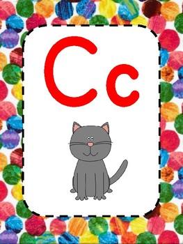 Alphabet - Hungry Caterpillar Inspired