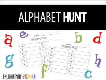 Alphabet Hunt - Literacy Activity for K/1