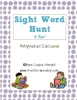 Alphabet Hunt & Bingo Activities