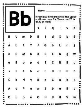 Alphabet Hunt - Letter Recognition Search Packet